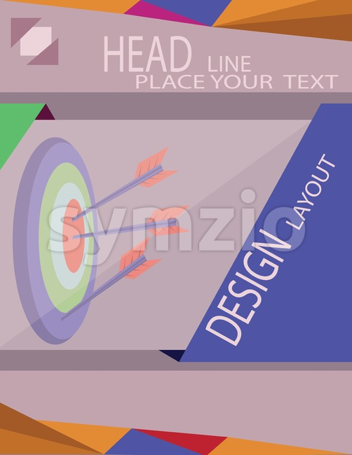 Abstract target with arrows for infographic, template for cycle diagram graph presentation. Digital vector image Stock Vector