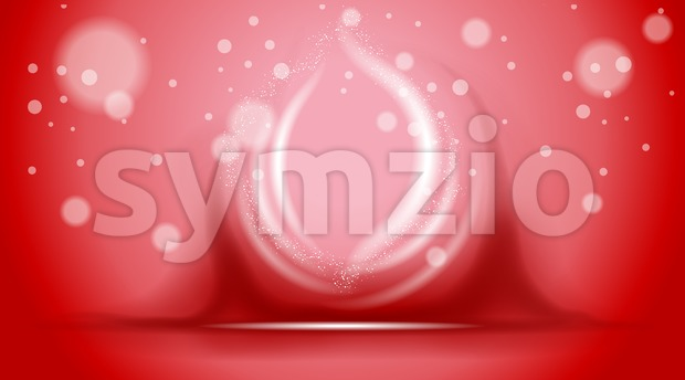 Digital vector abstract empty red background Stock Vector