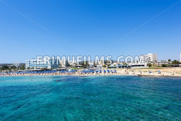PROTARAS, CYPRUS – JUNE 12, 2016:Photo of sea and fig tree bay beach in protaras - frimufilms.com