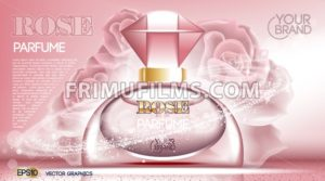 Perfume bottle Cosmetic ads template - frimufilms.com