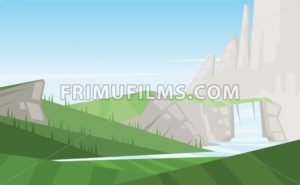 Digital vector abstract background with trees - frimufilms.com