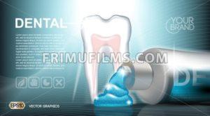 Digital vector blue medicine toothpaste - frimufilms.com