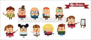 Digital vector cartoon characters set - frimufilms.com