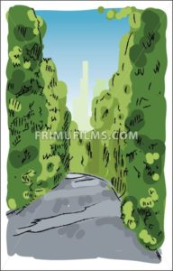 Digital vector sketch of a road - frimufilms.com