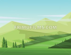 Digital vector abstract background with pines - frimufilms.com