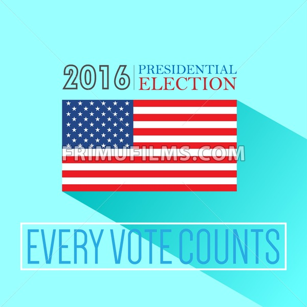 digital vector usa presidential election 2016 with every. Black Bedroom Furniture Sets. Home Design Ideas