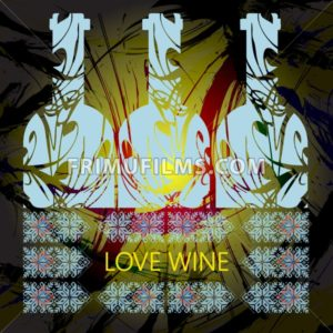 Love wine and tasting card, three light blue bottles over water colored background. Digital vector image. - frimufilms.com