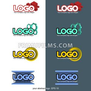 Abstract 3d logo set collection. Digital vector image. - frimufilms.com