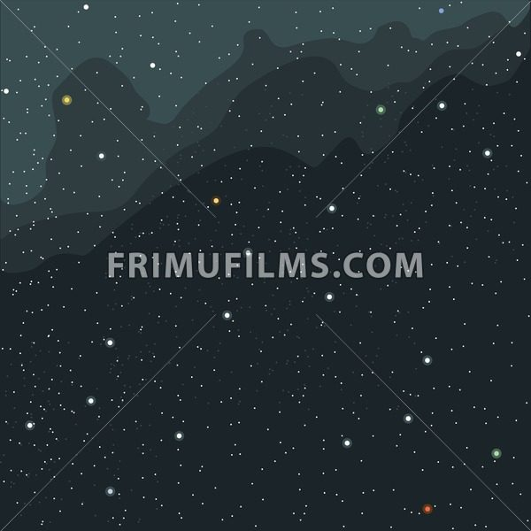 Space And Cosmic View Of The Universe With Stars Planets Galaxies Digital Vector