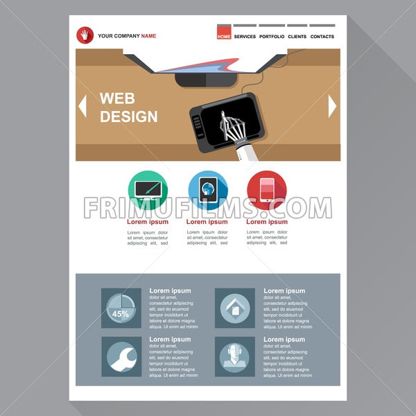 Web design agency site theme layout digital background for Digital product design agency
