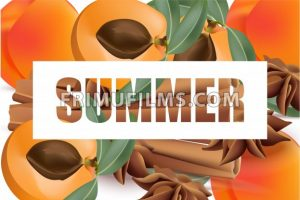 Summer appricot and cinnamon background pattern Vector illustrations - frimufilms.com