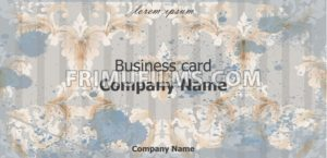 Business card Vector. Baroque rich vintage ornament background. Old paper style - frimufilms.com