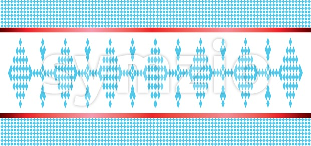 Vector Oktoberfest beer festival pattern with blue an white colors Stock Vector