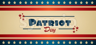 Vector Patriot Day, with blue and red stripes and red stars. Stock Vector