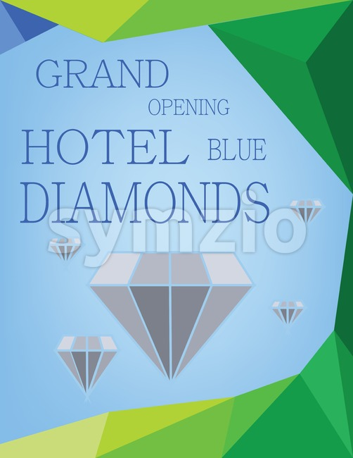 Abstract design for diamond hotel grand opening. Digital vector image Stock Vector