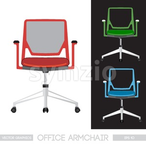 Office armchair set. Digital vector image Stock Vector