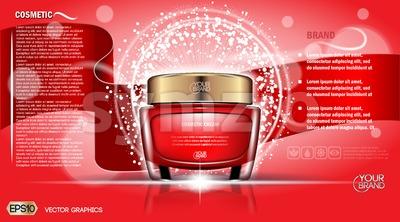 Moisturizing Cream cosmetic ads Stock Vector