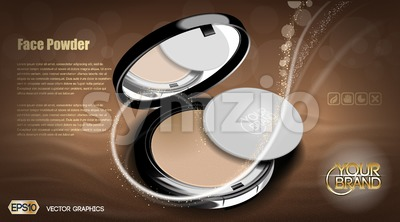 Modern face powder cosmetic Stock Vector