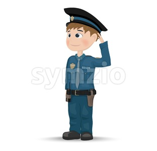 Policeman Vector. Cartoon character. template design illustration Stock Vector