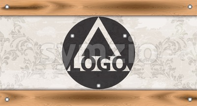 Logo design template layout Vector. Ornamented background Stock Vector
