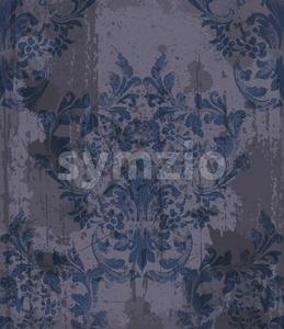 Damask pattern ornament decor Vector. Baroque grunge fabric texture illustration design Stock Vector