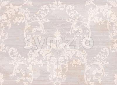 Damask pattern ornament decor Vector. Baroque fabric texture illustration design Stock Vector