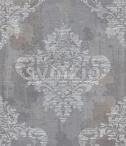 Grunge Damask pattern ornament decor Vector. Baroque fabric texture illustration design Stock Vector