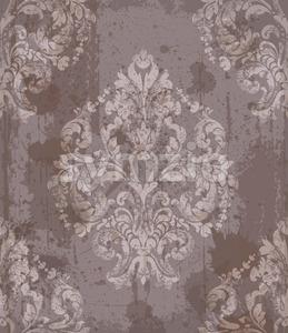 Damask old pattern ornament decor Vector. Baroque fabric texture illustration design Stock Vector