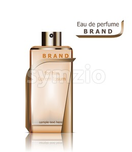 Perfume bottles Vector. Product packaging realistic detailed 3d illustration. Luxury fragrance Stock Vector