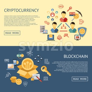 Digital vector line icons set blockchain pack illustration with elements for cryptocurrency infographics Stock Vector