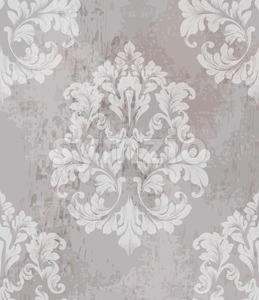 Vintage old paper texture Vector. Luxury baroque pattern wallpaper ornament decor. Textile, fabric, tiles. Nude color Stock Vector