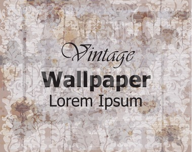 Vintage wallpaper Vector. Royal ornament. Elegant pattern texture. Old stained effect Stock Vector