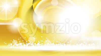 Digital vector yellow abstract empty background Stock Vector